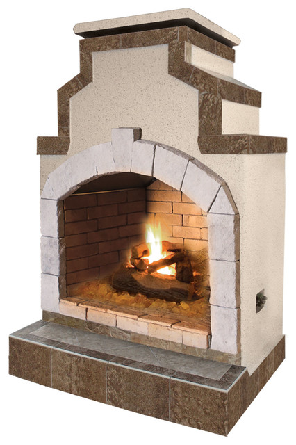48 Propane Gas Outdoor Fireplace In Porcelain Tile Indoor Fireplaces By Lloyds Material Supply