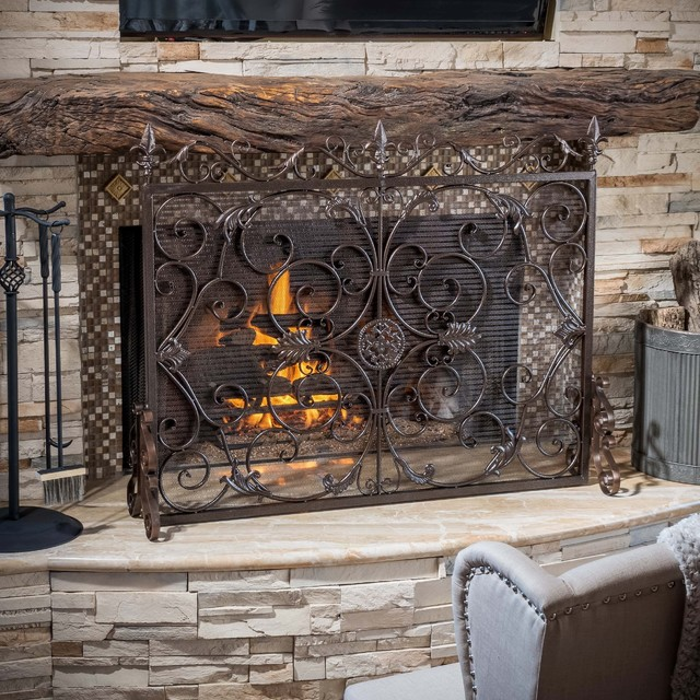 Christopher Knight Home Wilmington Fireplace Screen Victorian Fireplace Screens By