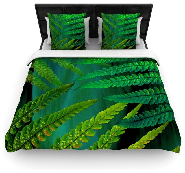 Alison Coxon Quot Forest Fern Green Quot Plant Duvet Cover 104