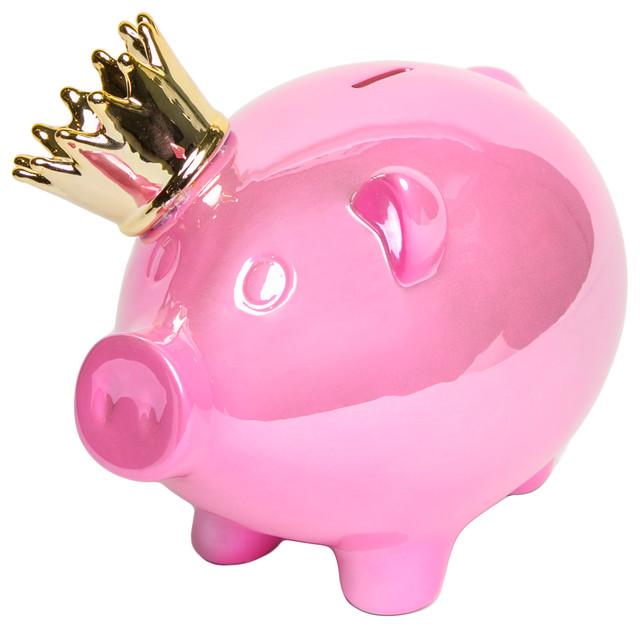 crown piggy bank