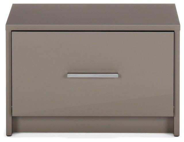 nuvola chevet 1 tiroir taupe modern nightstands and