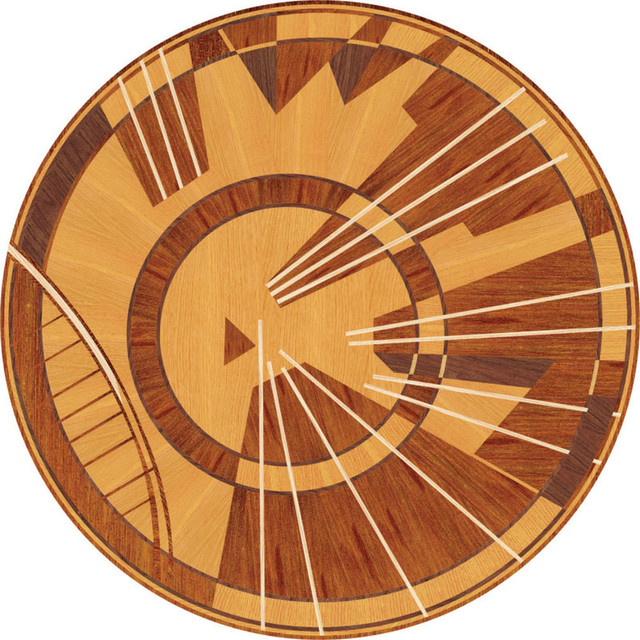 Decorative Floor Inlays : Wood inlays collection floor medallions and