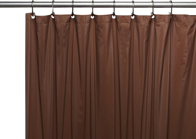 Hotel Quality Vinyl Shower Curtain Brown Traditional Shower Curtains By Linens4less