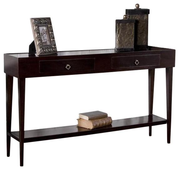 Uttermost antero espresso console table transitional console tables