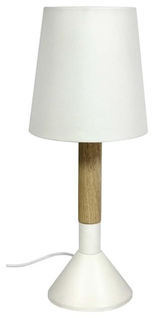 lampe poser bois m tal naos couleur blanc scandinave lampe poser par. Black Bedroom Furniture Sets. Home Design Ideas