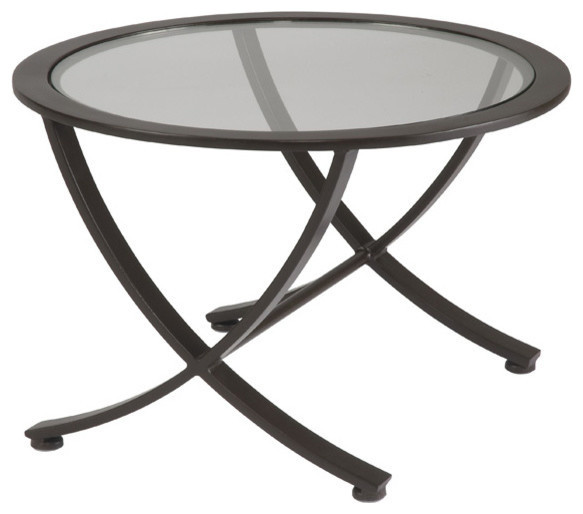 Allan copley designs wellington round glass top nesting for Glass top nesting tables