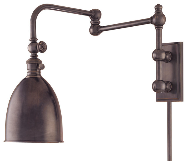 Wall Sconce Swing Arm Light : Roslyn 1 Light Wall Sconce - Industrial - Swing Arm Wall Lamps - by Lampclick