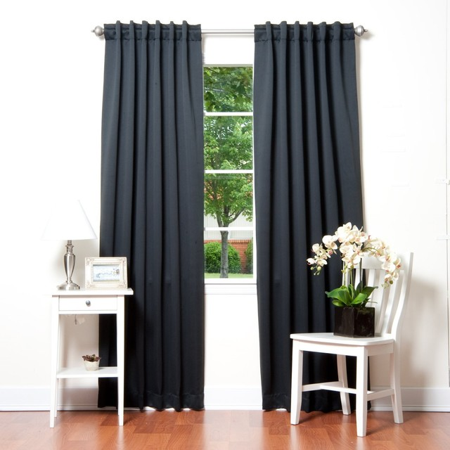 ... Insulated Blackout Curtain, Black - Traditional - Curtains - by Amazon