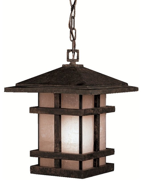 Kichler cross creek arts and crafts mission outdoor for Modern craftsman lighting