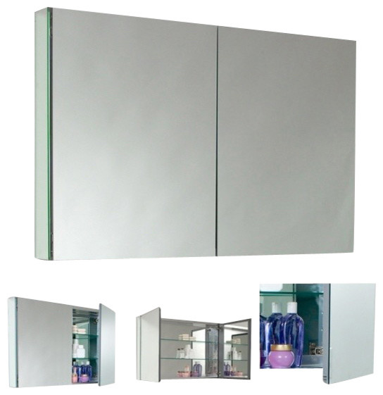 Fresca Fmc8010 40 Inches Wide Bathroom Medicine Cabinet With Mirrors Modern Bathroom