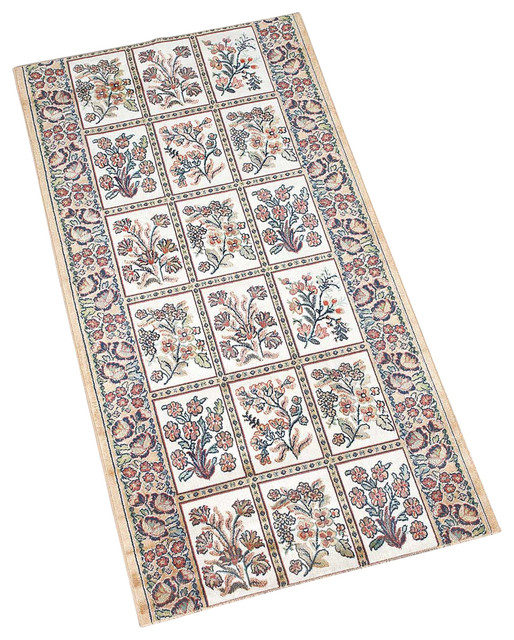 Carpet Runners Sold By Running Foot Beige Silk 26 W Traditional Ru