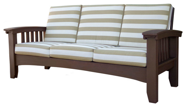 Cypress Mission Sofa Craftsman Outdoor Sofas By