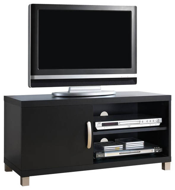 Techni Mobili TV Stand with 1 Door in Black for TVs Up To 37 Inch ...