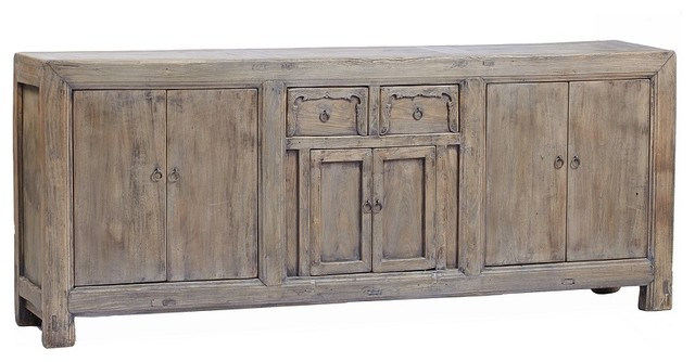 Consigned - Large Vintage Sideboard Buffet Media Cabinet - Beach Style - Buffets And Sideboards ...