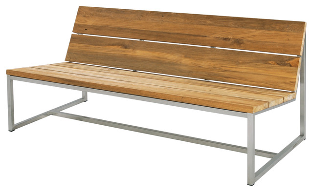 oko casual bench 59 contemporary garden benches by