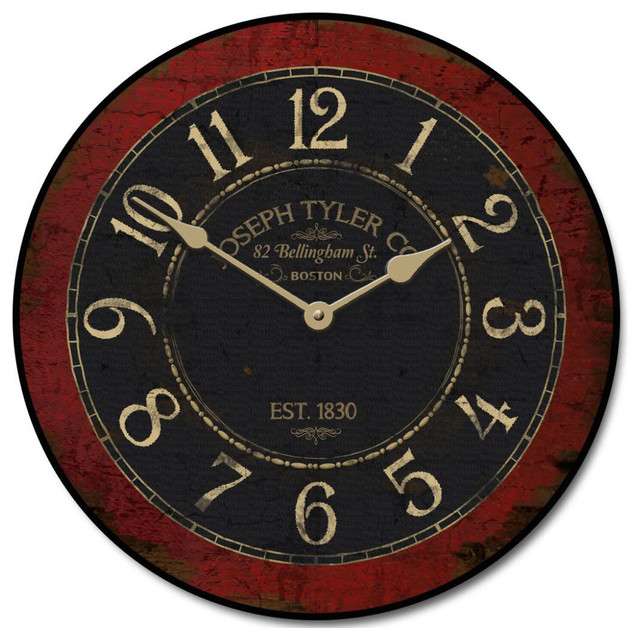 Bellingham street wall clock 24 traditional wall for Accents salon bellingham