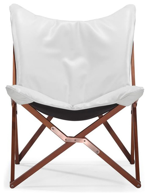 butterfly chair white modern by brickell collection