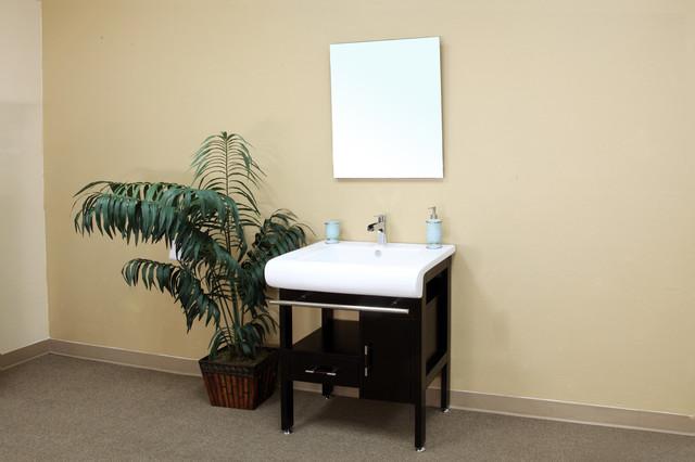 bellaterra 202117b 28 in single sink vanity wood dark. Black Bedroom Furniture Sets. Home Design Ideas