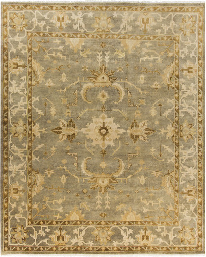 Traditional Area Rugs: Surya Istanbul IST-1001 Gold, Light Grey Rug