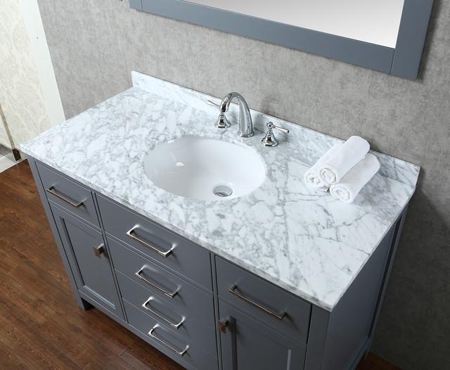New 48 Bella Bathroom Vanity Grey Transitional