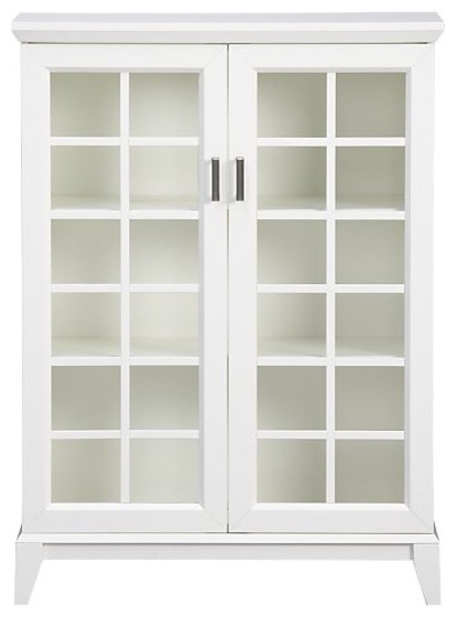 Paterson White 2-Door Cabinet | Crate&Barrel - Traditional ...