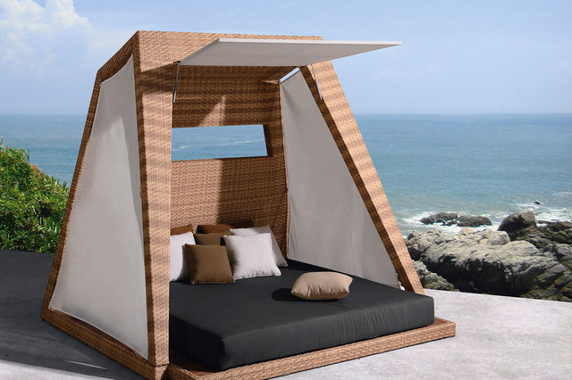 Outdoor living higold palace cabana contemporary for Cabana chaise lounge