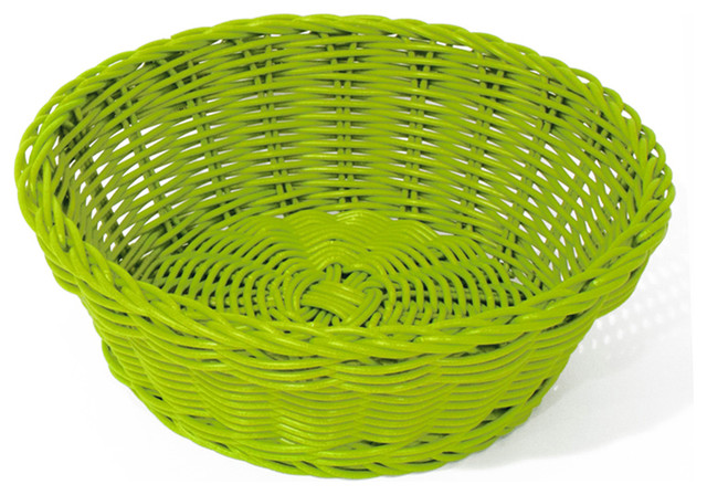 corbeille pain ronde plastique vert moderne corbeille fruits par homy. Black Bedroom Furniture Sets. Home Design Ideas