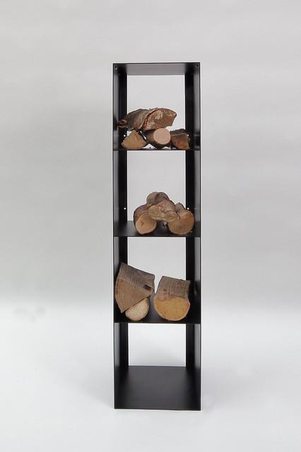 kaminholz regal aus zunderstahl modern kaminzubeh r other metro von metall gestaltung. Black Bedroom Furniture Sets. Home Design Ideas