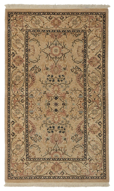 Mogul Wool Area Rug, Beige, 3x5 - Traditional - Area Rugs - by Solo Rugs