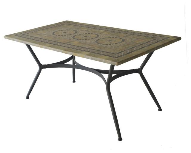 photos  agadir table de jardin rectangulaire mosaique contemporain