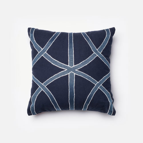 Navy and Blue 18-Inch Decorative Pillow - Modern - Pillows