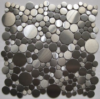 Pebble Stainless steel tiles - Contemporary - Tile - other metro - by MEITIAN MOSAIC CO.,LTD