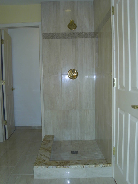 12x24 porcelain shower detroit by maloney tile for 12x24 window