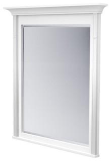 Kraftmaid mirrors 42 in l x 36 in w framed wall mirror for Mirror 42 x 36