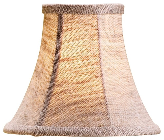 natural linen bell lamp shade 3x6x5 clip on beach style lamp shades. Black Bedroom Furniture Sets. Home Design Ideas