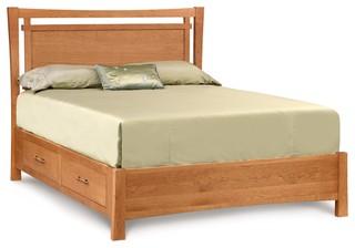 Monterey Cherry Storage Bed - Asian - Platform Beds - by VERMONT WOODS ...