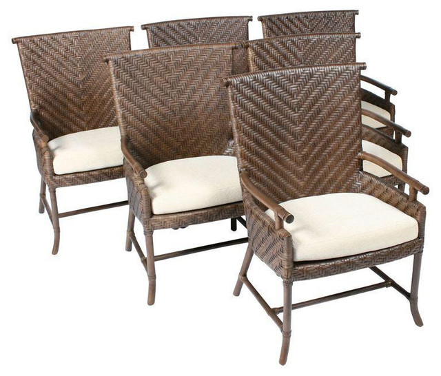 Ficks Reed Dining Chairs Set of 6 $4 800 Est Retail