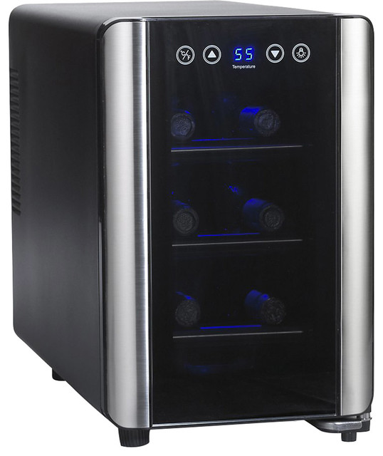 Wine enthusiast wine cooler 6 bottle s contemporary for Beer and wine cooler table