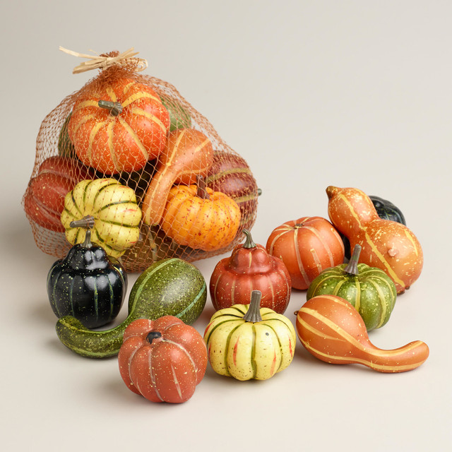 Thanksgiving gourds traditional holiday decorations