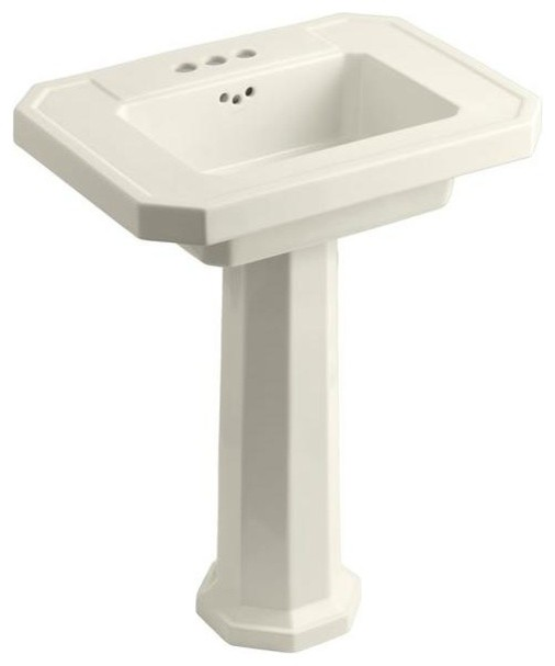 Kohler Small Pedestal Sink : KOHLER Bathroom Kathryn Pedestal Combo Bathroom Sink in Biscuit K-2322 ...