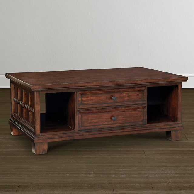 Highlands Storage Cocktail Table By Bassett Furniture Contemporary Coffee Tables Raleigh
