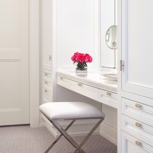 Should i place a make up vanity in my walk in closet or for Master bathroom with walk in closet