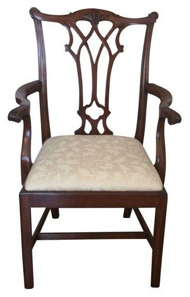 Random Harvest Cherry Ribbon Back Armchair Traditional Dining Chairs By Chairish