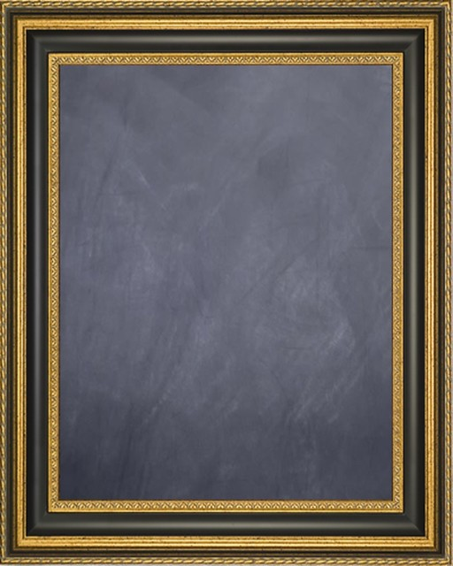 """Framed Chalkboard 16"""" x 20"""" - with Gold Finish Frame with Black Panel - Traditional - Bulletin ..."""