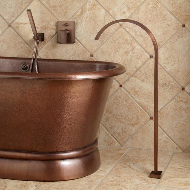 Cheval Gooseneck Freestanding Tub Faucet Modern Bathroom