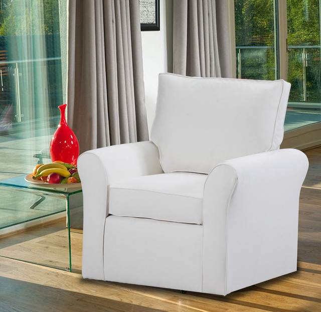 Belle Meade Swivel Arm Chair Contemporary Armchairs