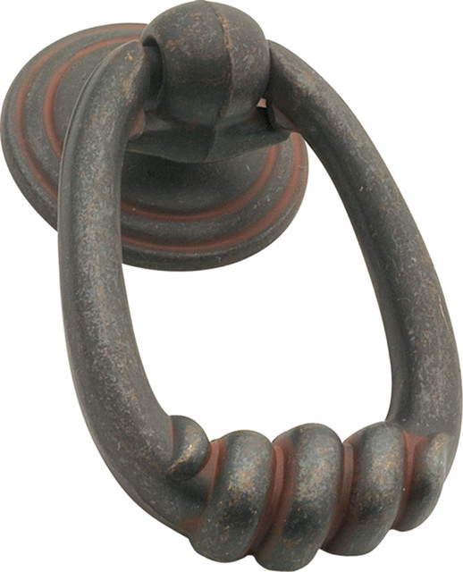 Manchester Rustic Ring Cabinet Pull, Iron - Traditional ...