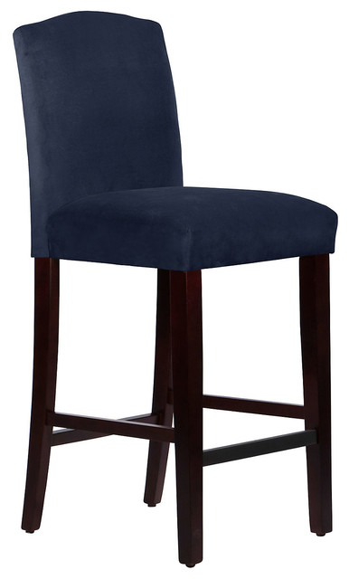Indio Arched Stool Navy Contemporary Bar Stools And
