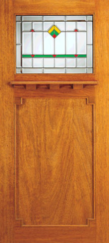Single Exterior Doors, Frank Lloyd Wright Mission Design - Craftsman - Front Doors - tampa - by ...
