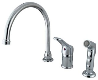 Single Loop Handle Kitchen Faucet with Non-Metallic Side Sprayer KB811 ...
